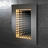 A frameless 3D effect infinity mirror with lighting art no: 64647295 Size: H70 x W50 x D5.5cm CLASS 1