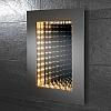 A frameless 3D effect infinity mirror with lighting art no: 64647295 Size: H70 x W50 x D5.5cm CLASS 1