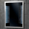 A framed 3D curved effect LED infinity mirror Orion Mirror art no: 64148695 Size: H84.5 x W61.5 x D5cm CLASS 1