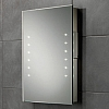 Oliver Mirror art no: 73106300 Size: H60 x W45 x D5.5cm Portrait rechargeable battery powered mirror with LED illumination. Supplied complete with rechargeable battery pack and charger.