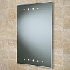 Duna Mirror art no: 73104195 Size: H70 x W50 x D4cm Bevelled edge mirror with parallel top and bottom LEDs.