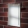 Milan Mirror art no: 64604095 Size: H60 x W40 x D2.5cm Distinctive 'mirror on mirror' design with chrome over-light and bevel edge finish.
