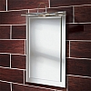 Milan Mirror art no: 64604095 Size: H60 x W40 x D2.5cm Distinctive 'mirror on mirror' design with chrome over-light and bevel edge finish.