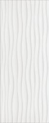PŁYTKA ŚCIENNA BUGI WHITE STRUKTURA 20/50 cm BŁYSZCZĄCA GAT.1 ( OP.1,30 M2 )K.J.CERSANIT