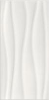PŁYTKA ŚCIENNA BASIC PALETTE WHITE WAVE - BŁYSZCZĄCA 29,7 x 60 cm GAT.1 ( OP.1,25 M2 )K.J.OPOCZNO