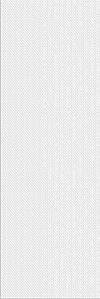 PŁYTKA ŚCIENNA PRET A PORTE WHITE TEXTILE  - BŁYSZCZACA 25/75 cm GAT.1 ( OP.1,12 M2 )K.J.OPOCZNO
