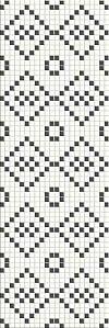 INSERTO MOSAIC PRET A PORTE BLACK & WHITE - BŁYSZCZĄCY 25/75 cm GAT.1 ( SZT.1)K.J.OPOCZNO