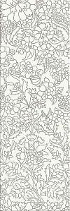 INSERTO PRET A PORTE WHITE FLOWER - BŁYSZCZĄCE 25/75 cm GAT.1 ( SZT.1)K.J.OPOCZNO