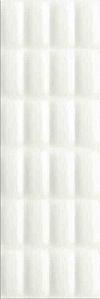 PŁYTKA ŚCIENNA VIVID COLOURS WHITE GLOSSY PILLOW STRUCTURE - BŁYSZCZĄCA 25/75 cm GAT.1 ( OP.1,12 M2 )K.J.OPOCZNO