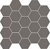 MOZAIKA CERAMICZNA ALL IN GREY SATYNOWA - SZKLIWIONA 30,6x28,2 cm GAT.1 ( SZT.1 )K.J.TUBĄDZIN