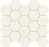 MOZAIKA CERAMICZNA ALL IN WHITE SATYNOWA - SZKLIWIONA 30,6x28,2 cm GAT.1 ( SZT.1 )K.J.TUBĄDZIN