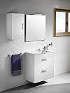 Zestaw łazienkowy Unik Compacto 80 cm z 2 szufladami.Biały połysk A855907806 / 8433290301021