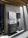 Zestaw łazienkowy Unik Compacto 80 cm z 2 szufladami.Antracyt połysk A855907153 / 8433290301045