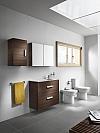 Zestaw łazienkowy Unik Compacto 80 cm z 2 szufladami.Wenge tekstura A855907154 / 8433290301052