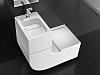"""Umywalka zintegrowana z miską WC podwieszaną Z baterią progresywaną Singles-Pro, z deską WC wolnoopadającą w komplecie, ze stelażem typu """"L"""" Specjalny zbiornik umożliwia wykorzystanie wody z umywalki do spłukania miski. System spłukiwania: 3/6 L. A893020001 / 8414329569285 Sposób instalacji: montaż do ściany i posadzki (konieczność zabudowania specjalnego stelaża dołączonego do produktu)"""