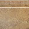 STOPNICA CALDO BEŻ 40/40 cm SATYNOWA - SZKLIWIONA GAT.1 ( SZT.1)K.J.GRES SA