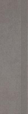 STOPNICA INTERO GRYS REKTYFIKOWANY 29,8/119,8 cm SATYNOWY - SZKLIWIONY GAT.1 ( SZT.1 )K.J.PARADYŻ