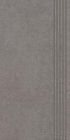 STOPNICA INTERO GRYS REKTYFIKOWANY 29,8/59,8 cm SATYNOWY - SZKLIWIONY GAT.1 ( SZT.1 )K.J.PARADYŻ