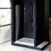 VITRA LINE drzwi wnękowe 1000mm, lewe, szkło czyste