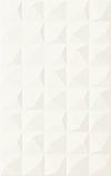 PŁYTKA ŚCIENNA MELBY BIANCO STRUKTURA 25/40 cm BŁYSZCZĄCA GAT.1 ( OP.1,30 M2 )K.J.PARADYŻ