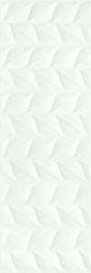 PŁYTKA ŚCIENNA ELIA BIANCO STRUKTURA A PÓŁMAT - SATYNOWA - MATOWA REKTYFIKOWANA 25X75 GAT.1 ( OP.1,30 M2 )K.J.PARADYŻ