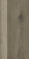 Stopnica prosta nacinana Tammi brown matowa rektyfikowana 29,4x59,9 cm Gat.1 ( OP.4 SZT.)K.J.PARADYŻ