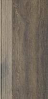 Stopnica prosta nacinana aveiro brown matowa rektyfikowana 29,4x59,9 cm Gat.1 ( OP.4 SZT.)K.J.PARADYŻ