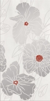 INSERTO GRISSA GREY FLOWER OD692-002 BŁYSZCZĄCE 29,7x60 GAT.1 ( SZT.1 )K.J.CERSANIT