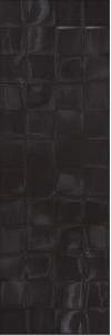 PŁYTKA ŚCIENNA FOREST SOUL BLACK STRUCTURE BŁYSZCZĄCA CUBES W476-004-1 WYMIAR 20x60 GAT.1 ( OP.1,08 M2 )K.J.CERSANIT