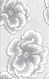 INSERTO FERRATA GREY FLOWER WYMIAR 25/40 cm WD953-005 GŁADKIE BŁYSZCZĄCE GAT.1 ( SZT.1 )K.J.CERSANIT