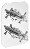 SASSARI bateria prysznicowa termostat. podtynkowa, 2-funkcyjna, chrom (LO89163)