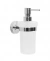 X-ROUND  dozownik mydła 230ml, mleczne szkło (104109017)