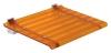LEO siedzisko prysznicowe 40x31cm, pomarańczowe