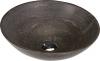 BLOK 1 umywalka kamienna, średnica 40cm, ciemny kamień matowy