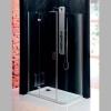VITRA LINE kabina prostokątna z zaokr. rogiem 1200x800mm, lewa, szkło czyste