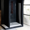 VITRA LINE drzwi wnękowe 900mm, prawe, szkło czyste