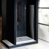VITRA LINE drzwi wnękowe 1000mm, prawe, szkło czyste