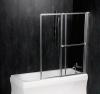 OLBIA parawan wannowy pneumatyczny 1230mm, profil pol. aluminium, szkło czyste