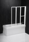 LANKA3 parawan wannowy pneumatyczny 1210mm, profil biały, szkło czyste