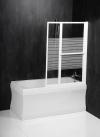 VENUS 2 parawan wannowy pneumatyczny 1060mm, profil biały, szkło czyste