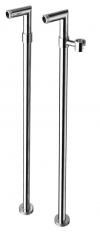 Podłączenie do instalacji baterii wannowej wolnostojącej (para), chrom