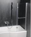ODESSA parawan wannowy pneumatyczny 970mm, profil srebrna, szkło czyste