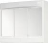 SAPHIR szafka z lustrem 60x51x18cm, jarzeniówka T8,1x15W, biały plastik