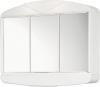 ARCADE szafka z lustrem 58x50x15,5cm, 2x12W, biały plastik