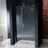VITRA LINE drzwi prysznicowe wnękowe 1400mm, prawe, szkło czyste