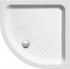Brodzik prysznicowy ceramiczny, półokrągły 90x90x11cm, R550