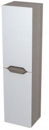 WAVE szafka wysoka z koszem 35x140x30cm, prawa, biała/maliwenge