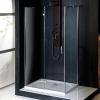 VITRA LINE kabina bez wieszaka na ręczn. prostokąt 1200x900mm, lewa, szk. czyste