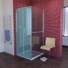 LUCIS LINE boczna ściana prysznicowa 800mm, szkło czyste