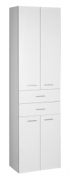 ZOJA/KERAMIA FRESH szafka wysoka, z szufladami 50x184x29 cm, biała